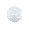 Ballons juste married rose 45 cm 31082