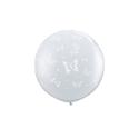 Ballons papillons ivoir ou transparent 3' 86 cm