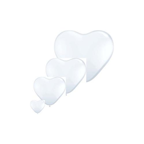 Ballons forme de coeurs 6'' 15 cm