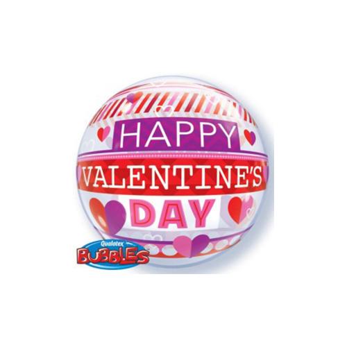 Ballons valentine stripe 22''