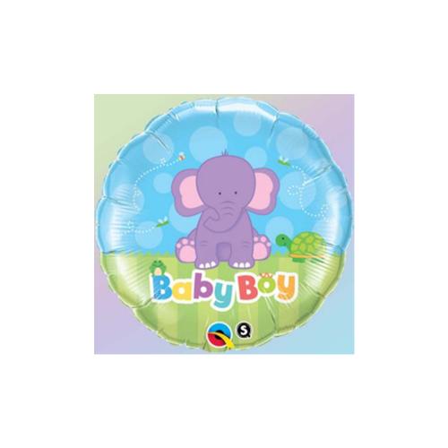 Ballons baby boy éléphant 18''