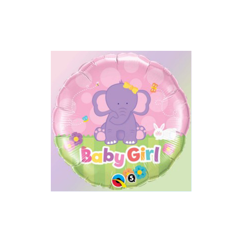Ballons baby girl éléphant 18''