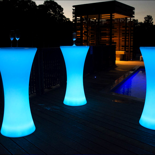 Table cocktail rond led