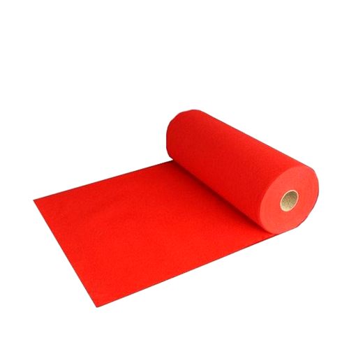 Tapis rouge avec installation